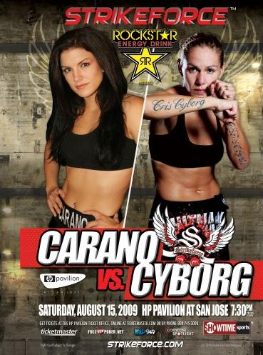 Carano vs Cyborg Strikeforce Poster