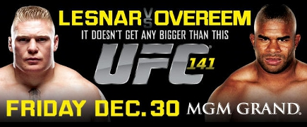 UFC 141 Lesnar vs Overeem: Prévia do card principal