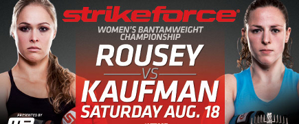 Strikeforce Rousey vs Kaufman: prévia do card principal