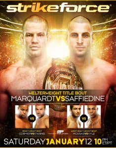Pôster do Strikeforce Marquardt vs Saffiedine