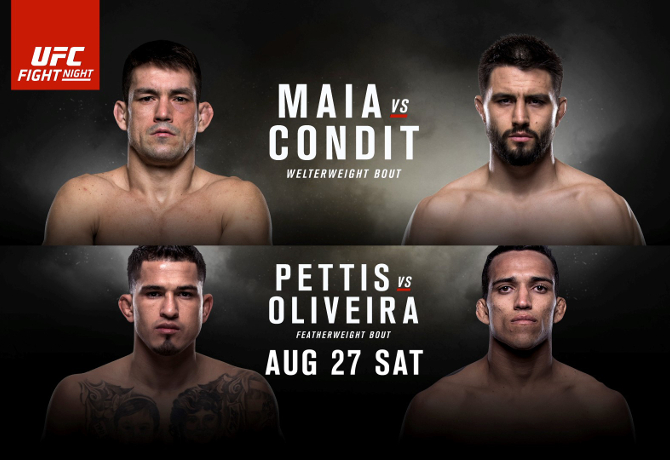 UFC On FOX 21: Maia vs. Condit – Prévia do Card Principal