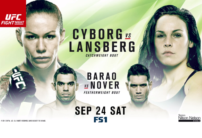 UFC Fight Night 95: Cyborg vs Lansberg – Prévia do Card Principal