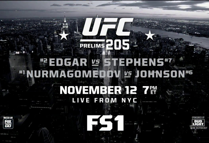 UFC 205: Prévia do Card Preliminar