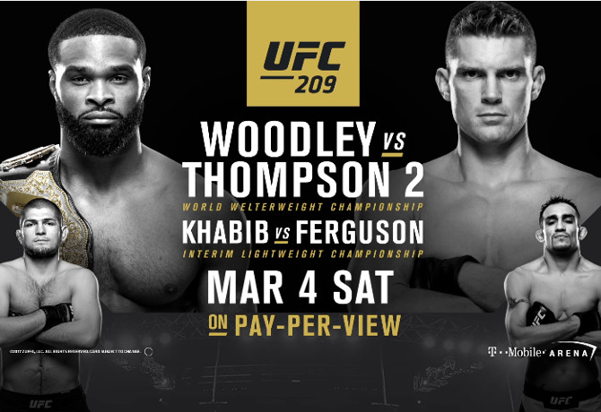 UFC 209: Woodley vs. Thompson 2 – Prévia do Card Principal