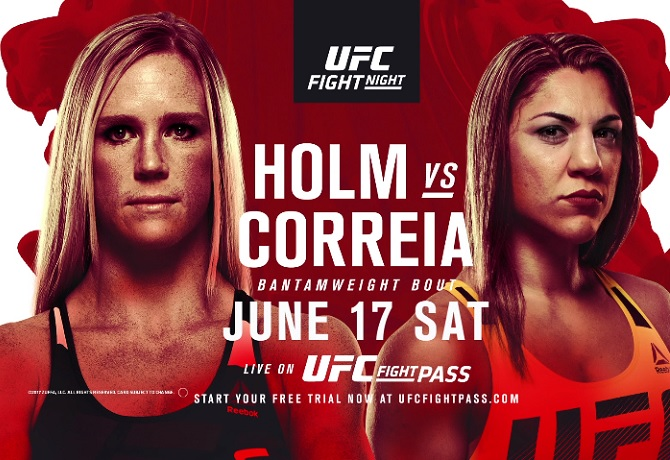 UFC Fight Night 111: Holm vs. Correia – Prévia do Card Principal