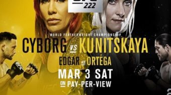 UFC 222: Cyborg vs. Kunitskaya – Prévia do Card Principal