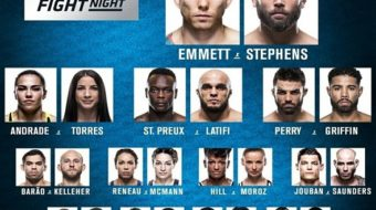UFC On FOX 28: Emmett vs. Stephens – Resultados