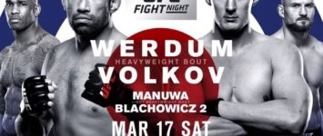 UFC Fight Night 127: Werdum vs. Volkov – Prévia do Card Principal