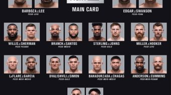 UFC Fight Night 128: Barboza vs. Lee – Resultados