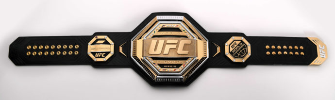 O novo cinturão do UFC